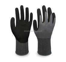 SHINEHOO 13 Gauge Latex Foam Coated Slip-proof Work Gloves