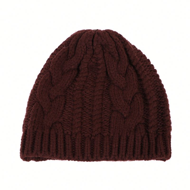 Latest knit pattern unisex slouch western european style bling beanie winter hat