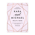 2017 Hot Sale Customized Geometric Wedding Invitation