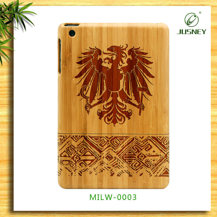 Best price wooden custom designs logo minion case for ipad 2 3 4