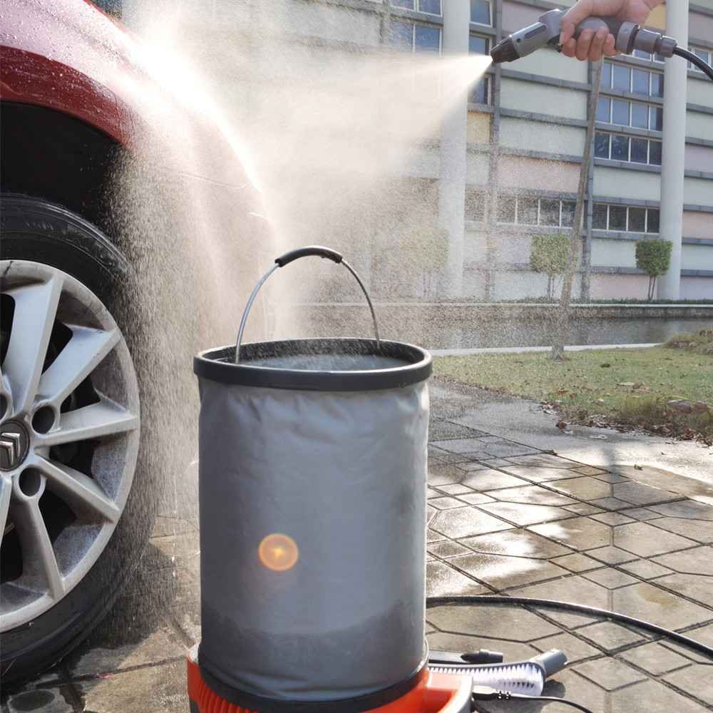 MINI 12V car electric car washing device Outdoor High Pressure Steam washer Brush truck pumps Automotive gun tool