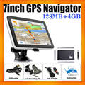 "7"" HD Display MP3 MP4 Portable Mediatek GPS navigator with built in 4GB and free maps"