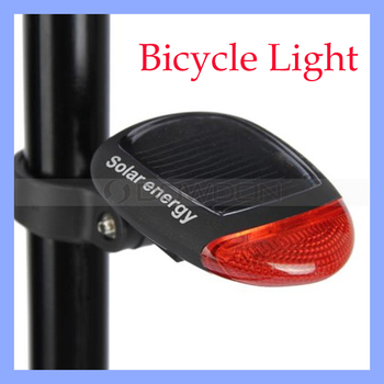 Quick Flash/Slow Flash/Steady Light Bicycle Solar Energy Night Cycle Light