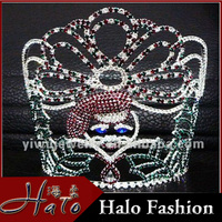 2015 Wholesale Tiara Crown Cheap Tall Pageant Custom Crown Tiara HCC172-0018