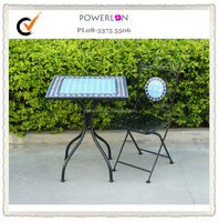Good quality outdoor UK KD square stone garden table