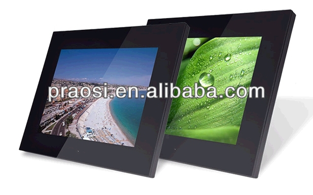 12inch digital photo frame support music/video OEM muti-functional digital picture photo frame free download software