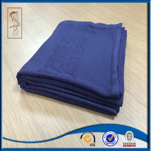 hot sale good quality cheap price woven jacquard 100% modacrylic disposable airline blanket