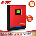 MUST PV1800 pure sine wave 2kva to 5kva transformerless solar inverter with PWM solar charger