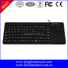 IP68 Waterproof Touchpad Silicone Medical Keyboard