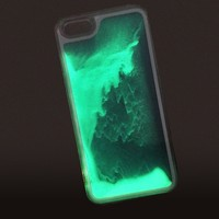 Phone accessories Wholesale noctilucence phone case flowing quick sand phone case for Iphone SE