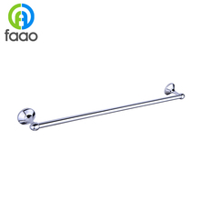 FAAO Chrome plated solid brass iron towel bar