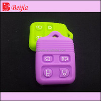 Auto remote key shell 2/3/4 button silicone soft pvc rubber car key cover
