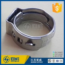 304 stainless steel single ear stepless hydraulic hose clamp