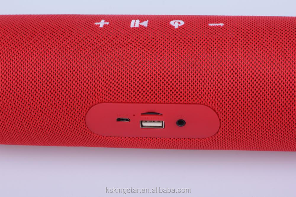 fabric portable cloth wireless speaker with microphone
