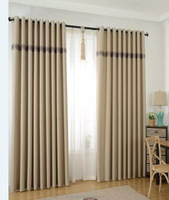 cross hemp, finished curtain, Pure color curtain