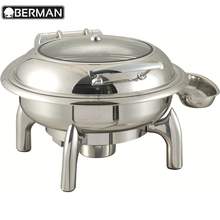 Kitchen equipment restaurant catering dish chafing , round glass lid chafing dish parts , sunnex food warmer buffet chafer food