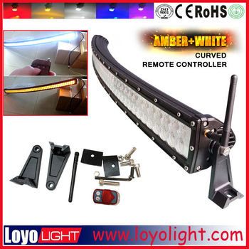 288w 50inch car aluminum housing curved / straight led light bar driving roof lightbar