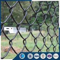 Strong technical force chain link fence with round post dog kennel