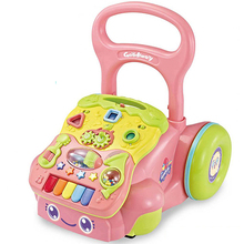 New wholesale safety baby musical toys walker for kids 2018