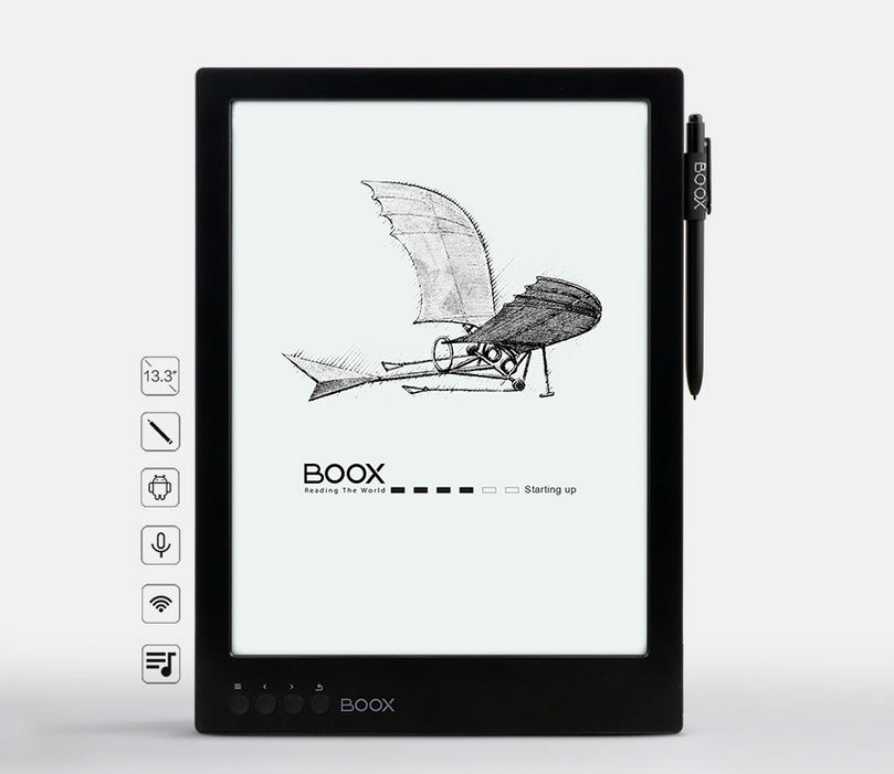 13.3 inch large flexible screen E-reader high resolution with wifi, built-in light and SD card