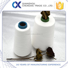 raw white 100 polyester spun yarn for sewing thread