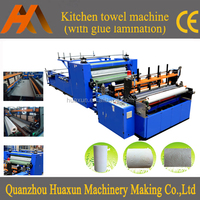 Automatic high speed glue lamination kitchen roll paper towel machine