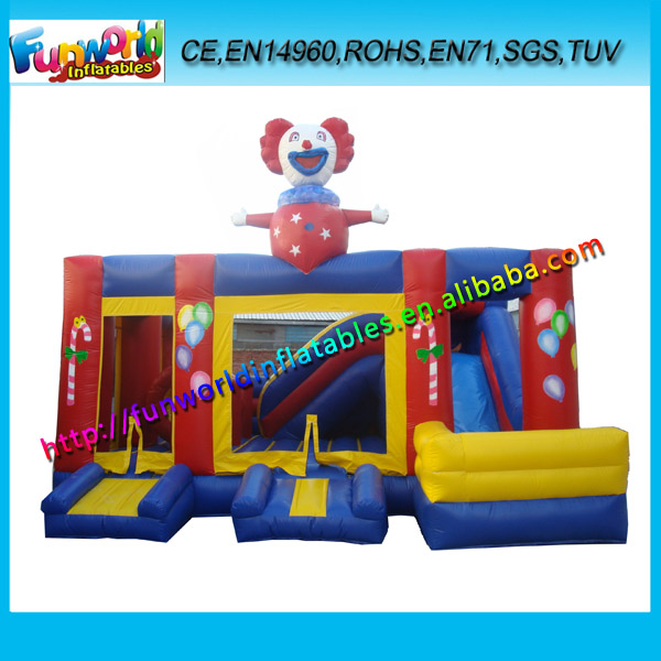 2017 Clown Commercial Inflatable Combo Games,Inflatable Combo Slide