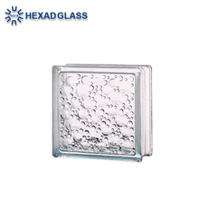 Hexad Clear Water Bubble Decorative Building Glass Blocks