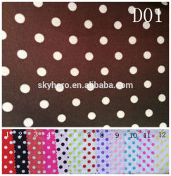 New Dot Design Printed 100%Polyester Microfiber Fabric for Bed Sheet and Bed cover
