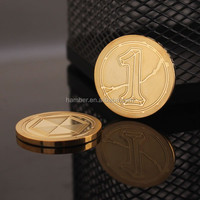 Promotion custom gold plated metal coin