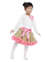 2015 New Arrival Cheap Organic Cotton Baby Clothes With Match Fluffy Party Tutu Skirt For Princess Girls