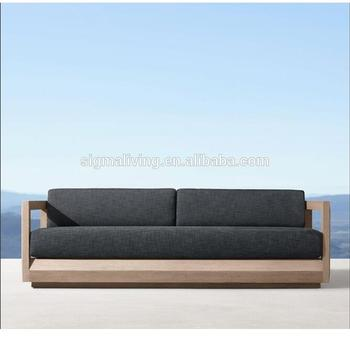 A teak wood outdoor garden patio Loveseat sofa furniture