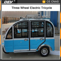 New design cheap 3 wheel closed tricycle electric car for passenger
