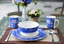 new bone blue and white tableware