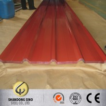 Z80 dark green corrugated steel roof sheets