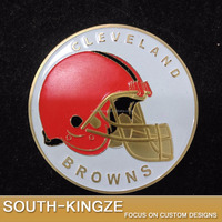Hard enameled 2016 Cleveland browns sports custom challenge coins
