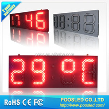 outdoor led time and temperature display controller