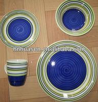 stoneware dinner set/16 pcs handpainted dinner set / Tablewareb set