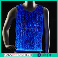 New luminous custom led light up vest sexy men club wear t shirt