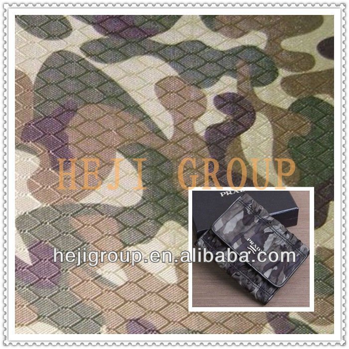 Camouflage printed DTY polyester jacquard oxford fabric for bag/tent/cloth