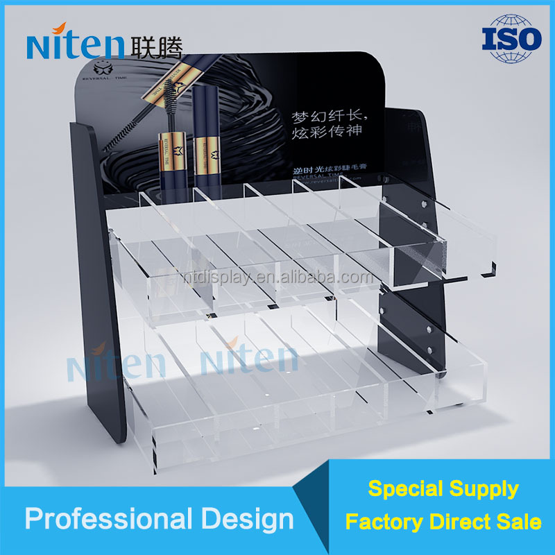 Customized cigarette pack pusher transparent acrylic display shelf