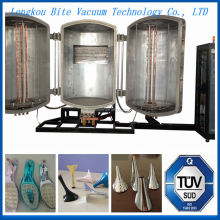 Plastic Shoe Heel Zinc Depostion Sray coating machine/ABS Shoe Heel Chrome Vacuum Metalizing Plating Equipment
