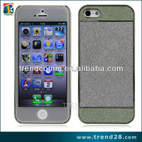 2014 new trendy sparkle sticker design plastic pc case for iphone 5