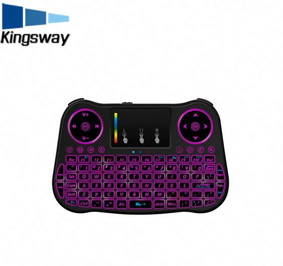 Hot Wholesale MT08 pro backlit 2.4G Mini Wireless Keyboard and Mouse For Smart TV BOX