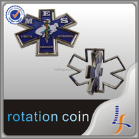 rotation metal coin custom coin makers embossed coin