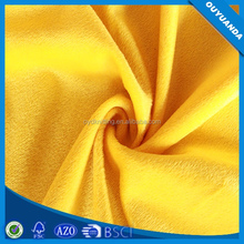 Solid Short Hair Fabric Brushed Polyester for Toy,Upholstery,Home Textile