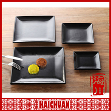 Chaozhou porcelain factory, ceramic square black plate, fruit plate