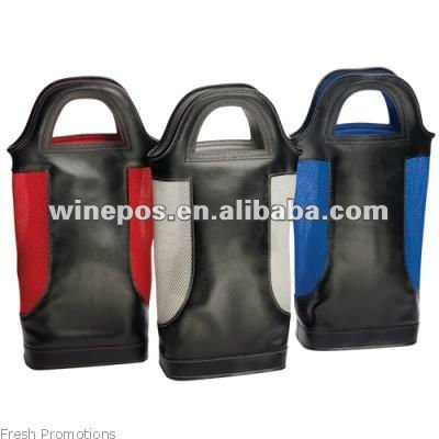2 bottle wine bag, wine carrier, wine bag