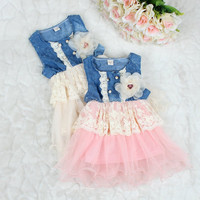 2017 Hot sale new design Infant party dress imported modern casual children dresses dress007