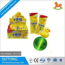 Kids gift Yellow duck glow stick lollipop candy